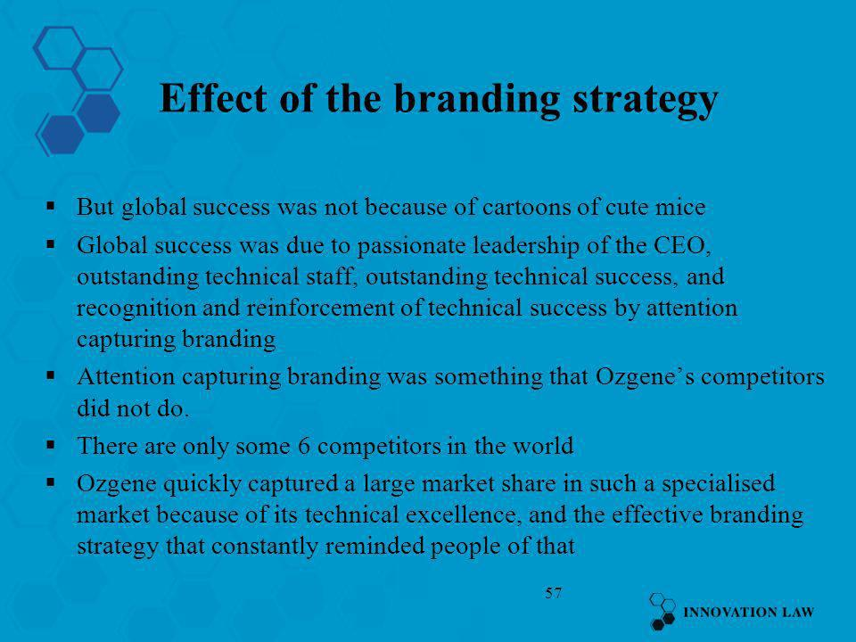 Effect of the branding strategy