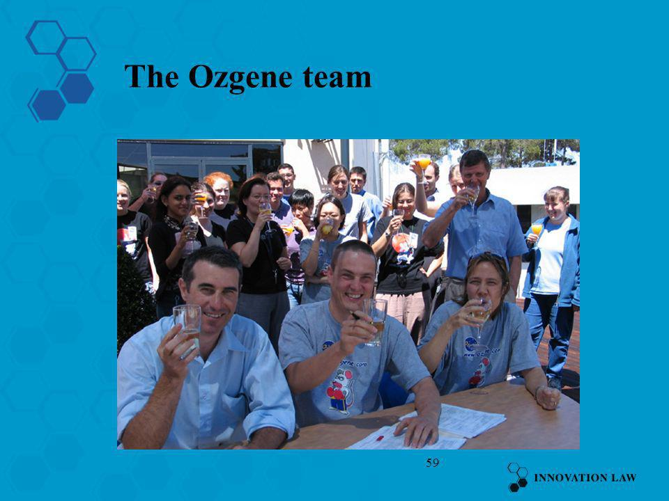 The Ozgene team