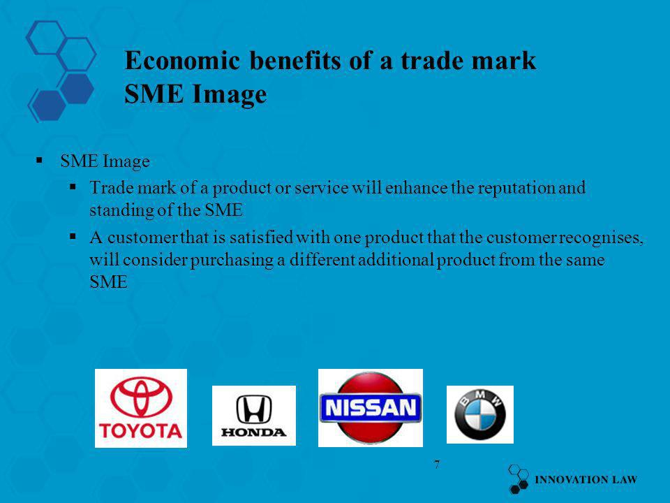 Economic benefits of a trade mark SME Image