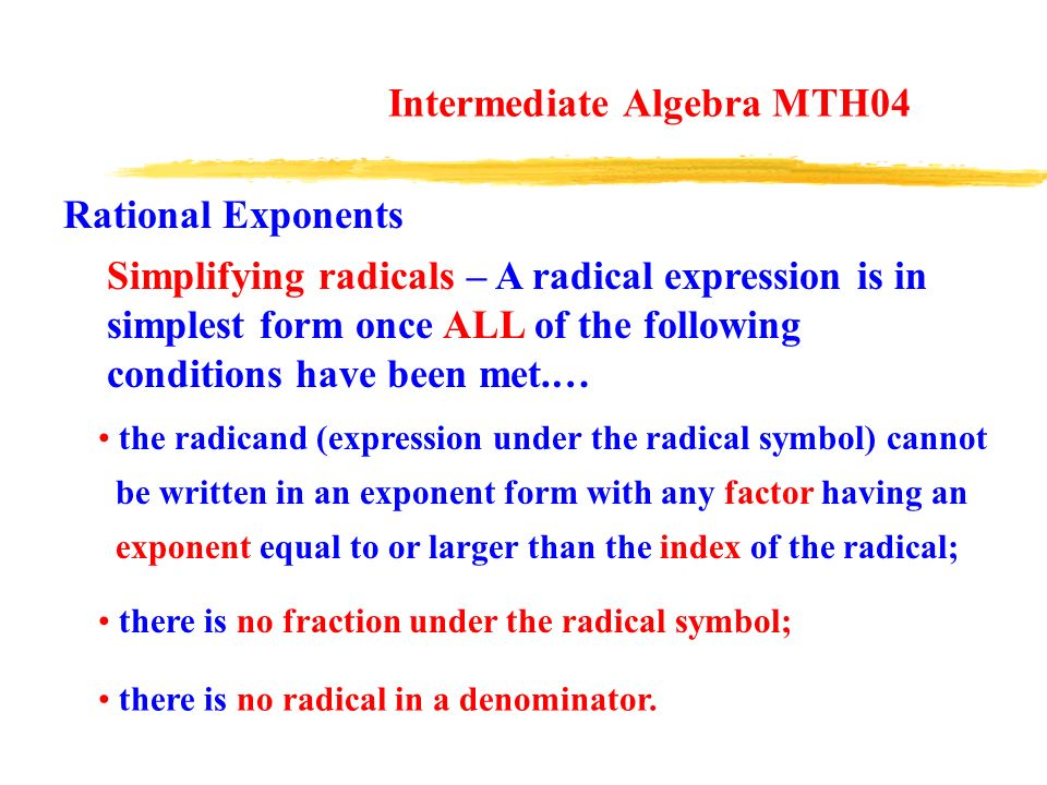 Properties of Exponents - ppt download