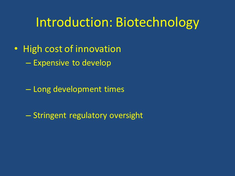 Introduction: Biotechnology