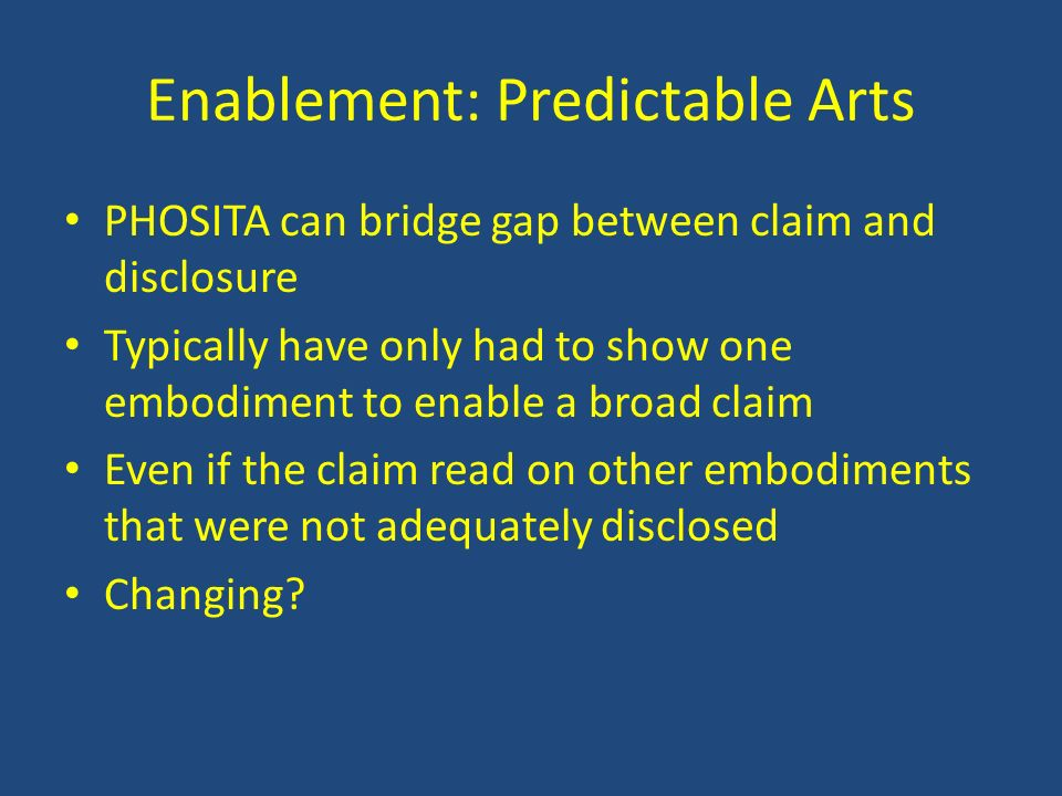 Enablement: Predictable Arts