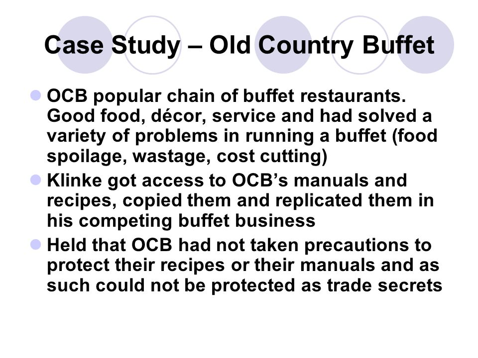 Case Study – Old Country Buffet