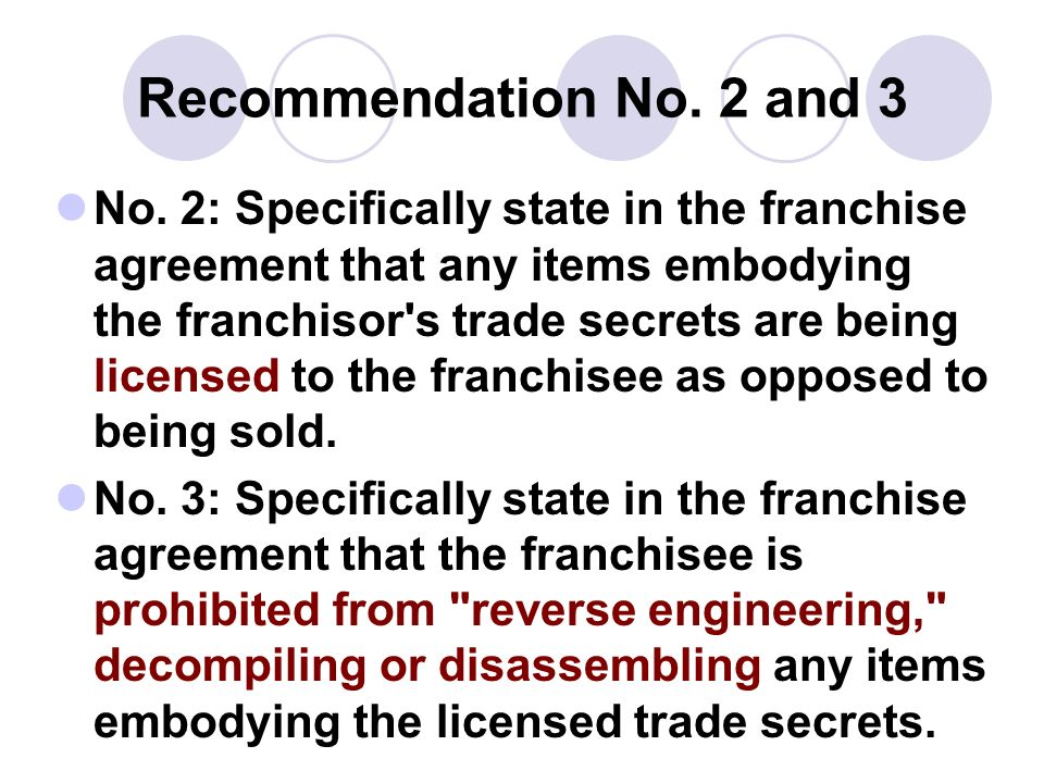 Recommendation No. 2 and 3