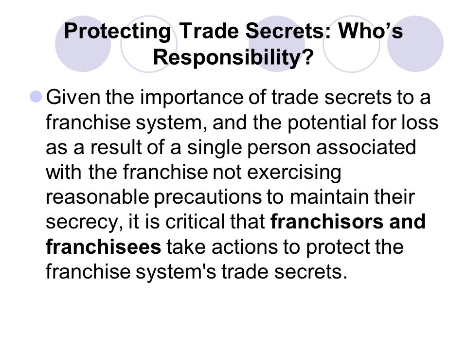 Protecting Trade Secrets: Who's Responsibility