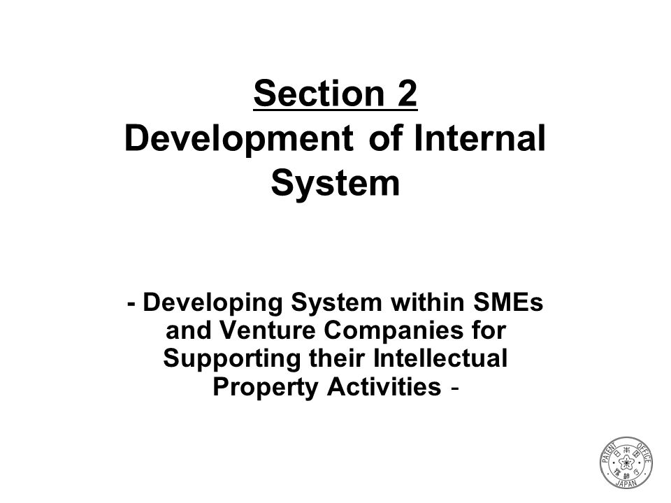 Section 2 Development of Internal System