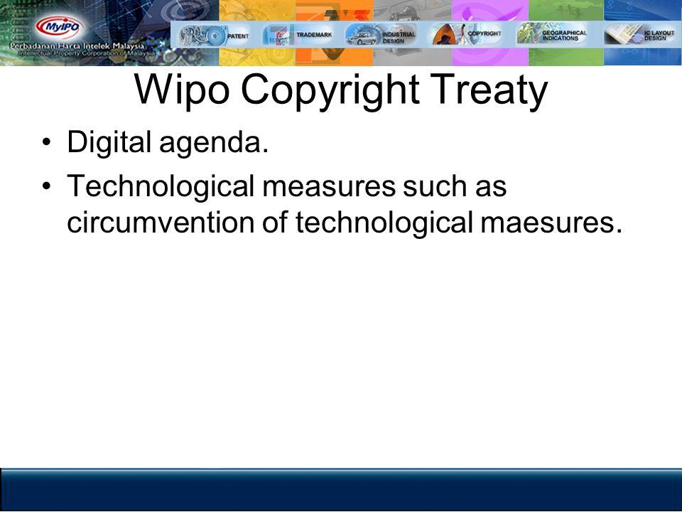 Wipo Copyright Treaty Digital agenda.