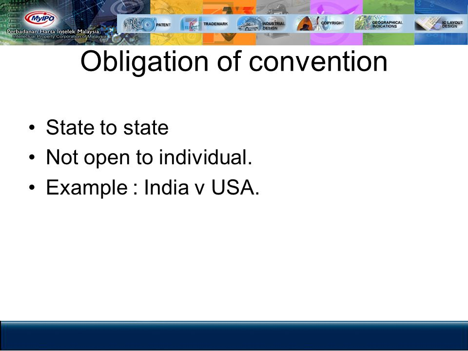 Obligation of convention