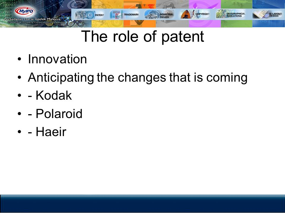 The role of patent Innovation Anticipating the changes that is coming