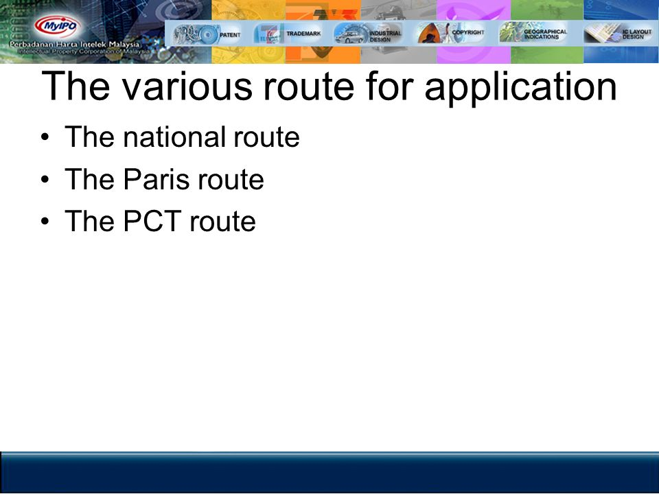 The various route for application