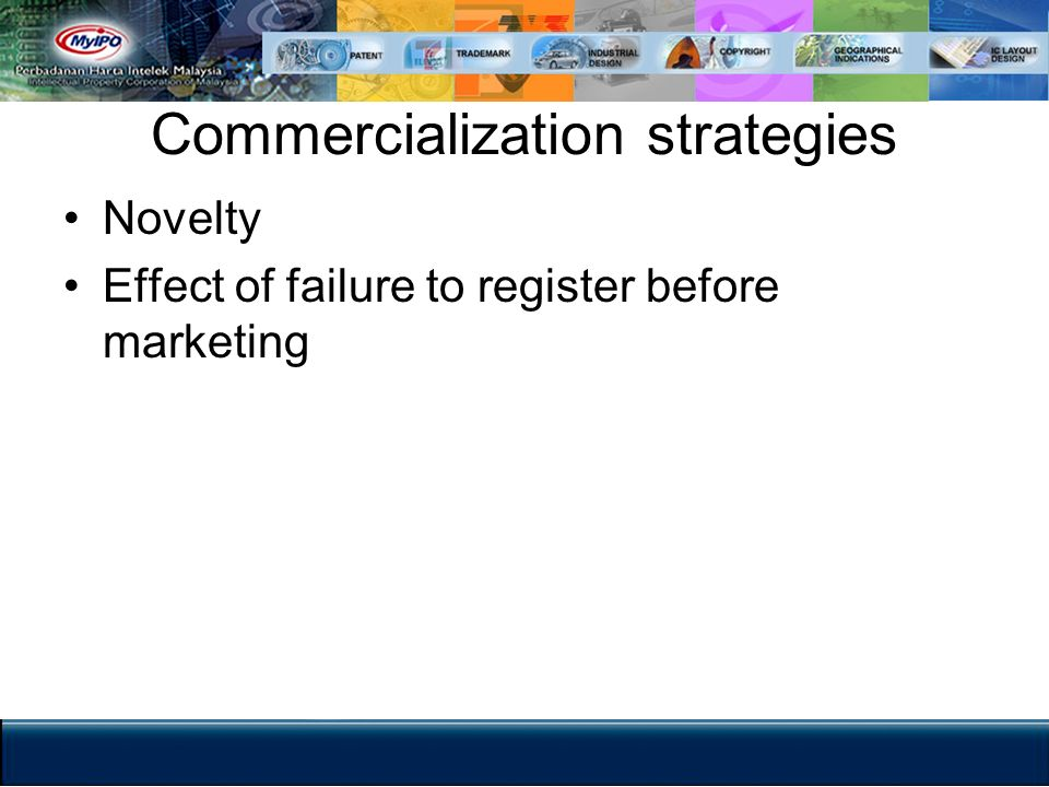 Commercialization strategies