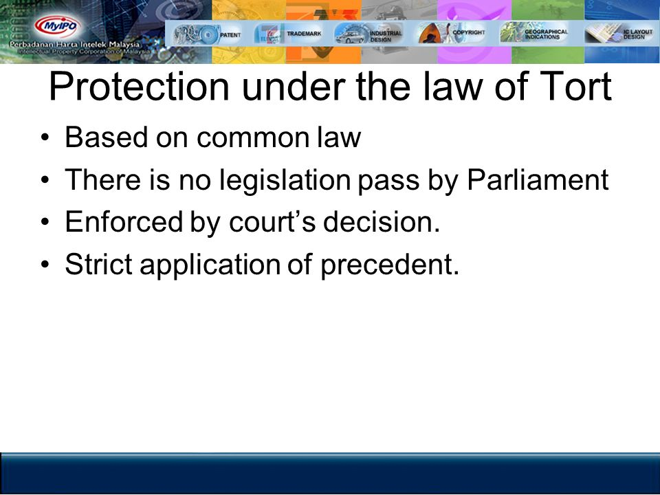 Protection under the law of Tort