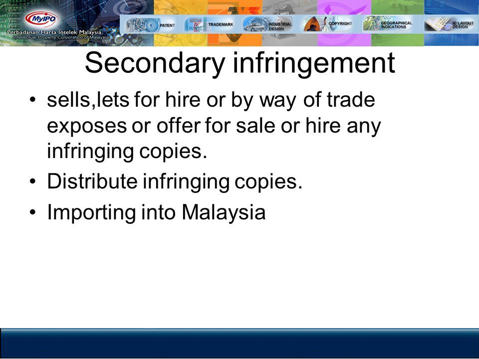 Secondary infringement