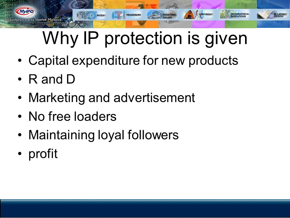 Why IP protection is given