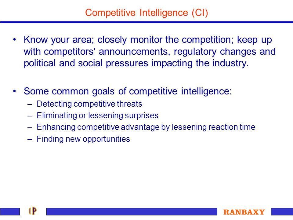 Competitive Intelligence (CI)