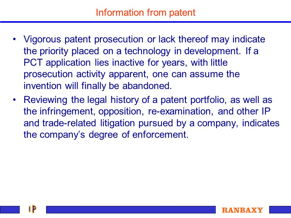 Information from patent