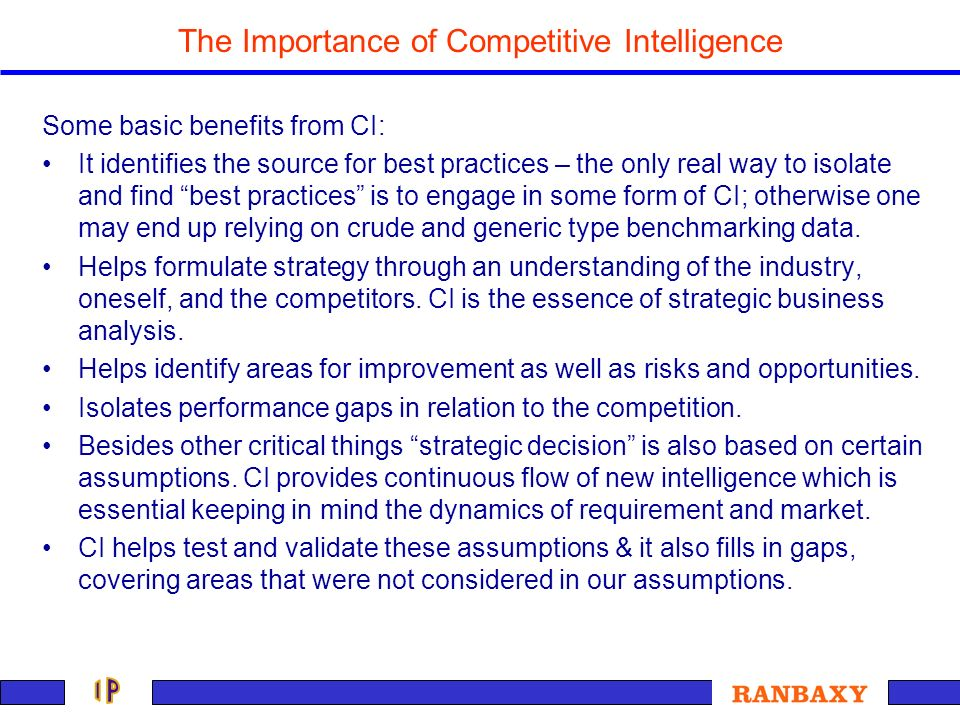 The Importance of Competitive Intelligence