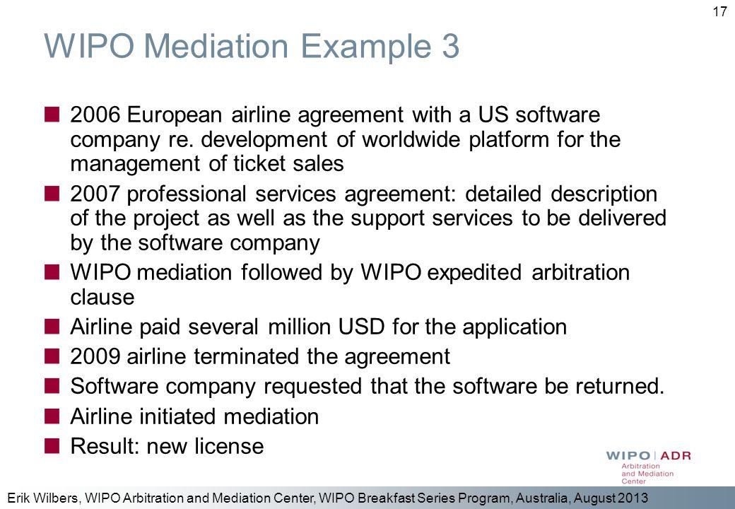 WIPO Mediation Example 3