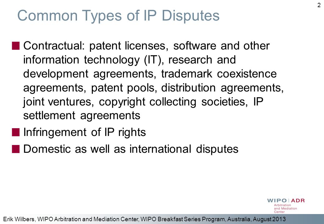 Common Types of IP Disputes