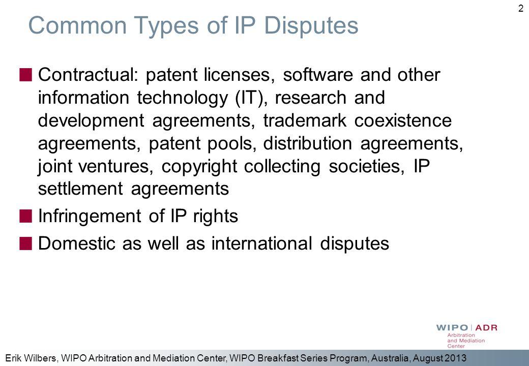 Common Types of IP Disputes