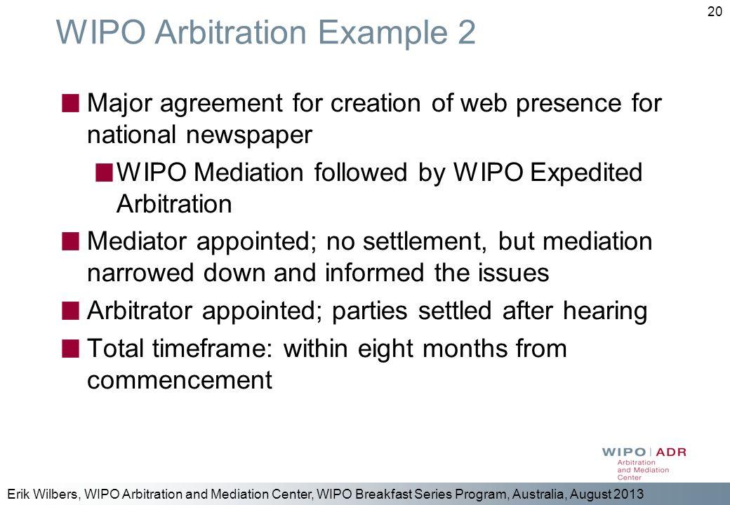WIPO Arbitration Example 2
