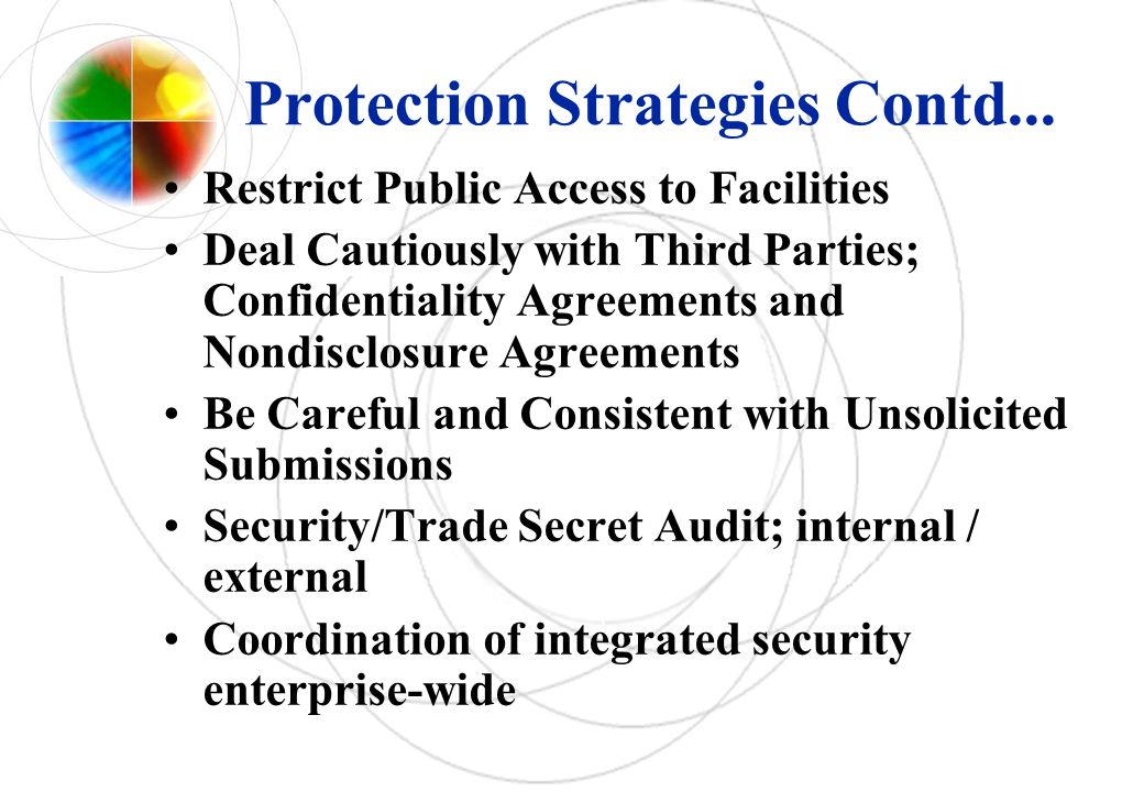 Protection Strategies Contd...