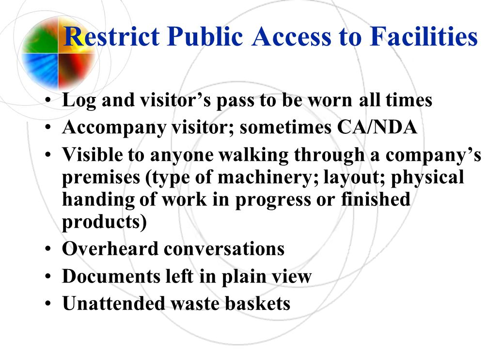 Restrict Public Access to Facilities