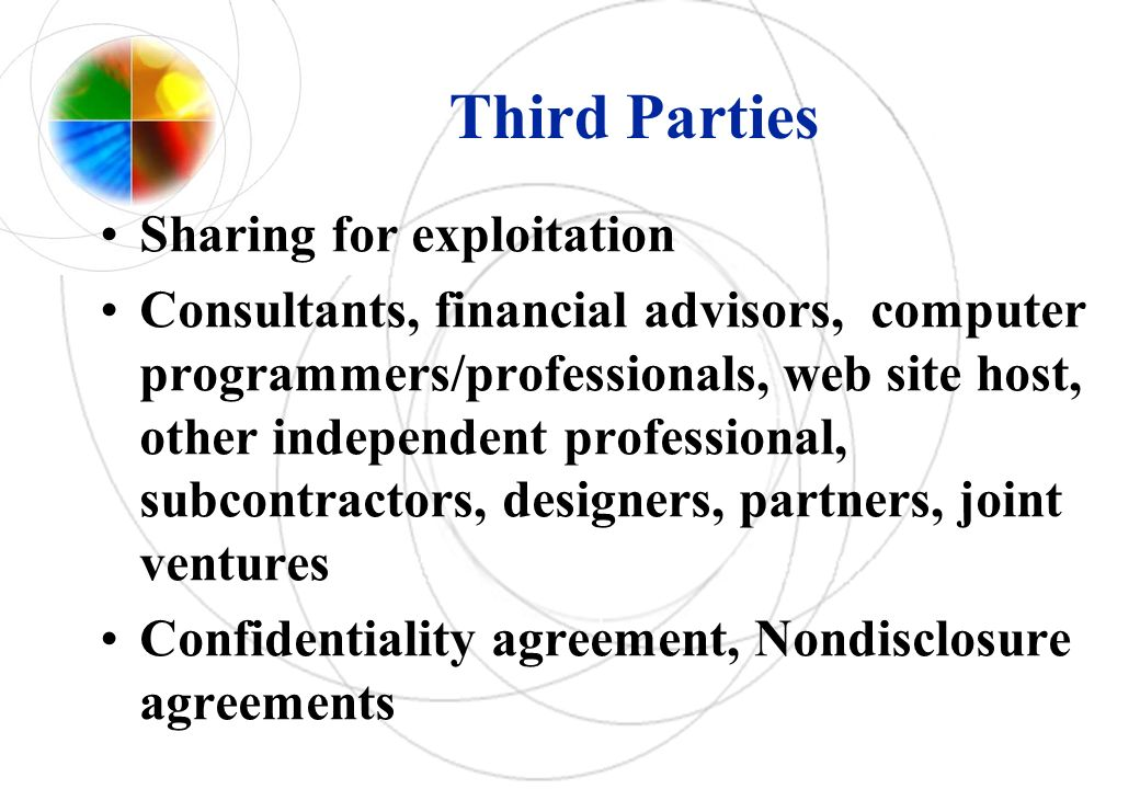 Third Parties Sharing for exploitation