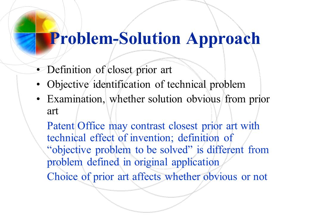 Problem-Solution Approach