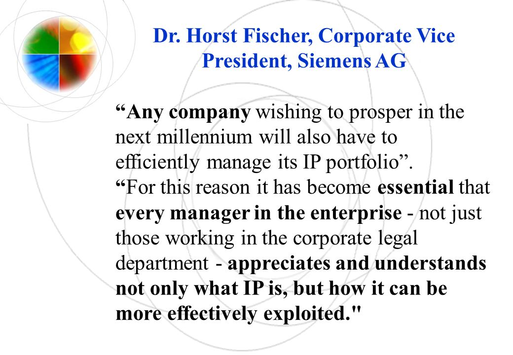 Dr. Horst Fischer, Corporate Vice President, Siemens AG