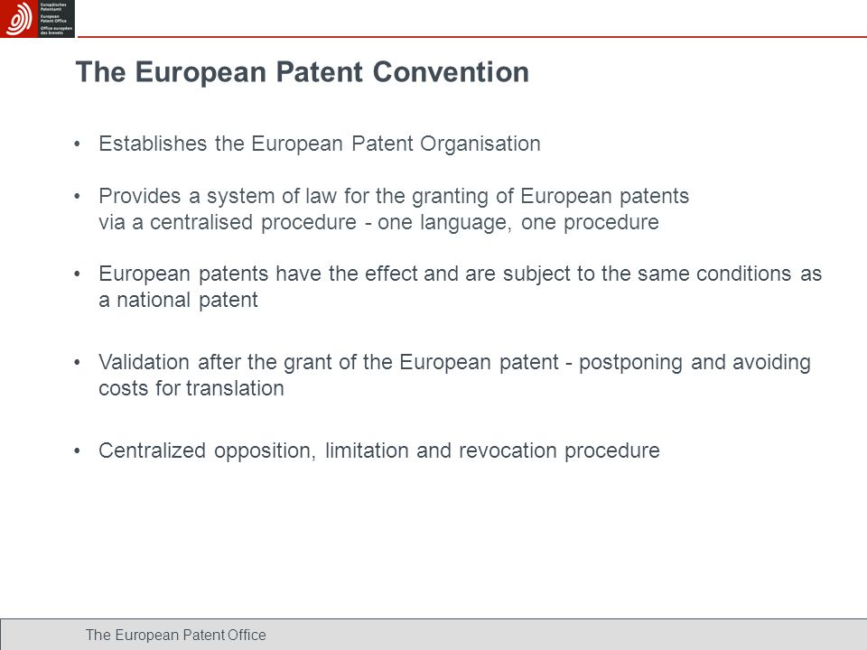 The European Patent Convention