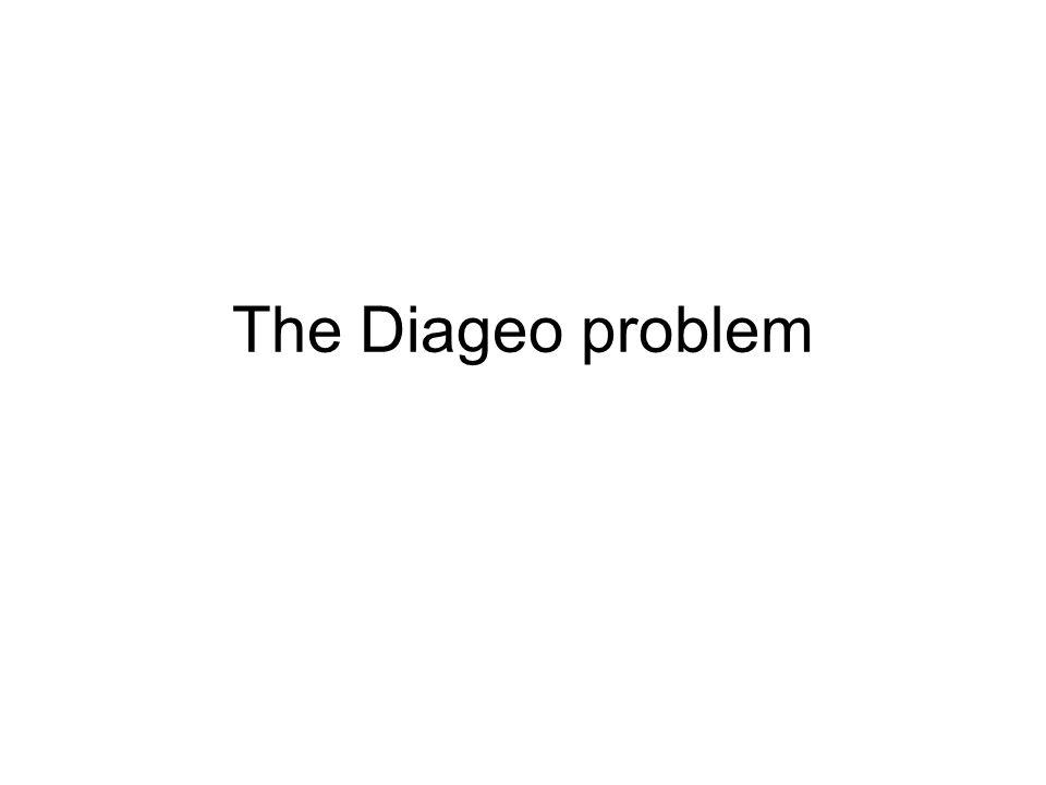 The Diageo problem