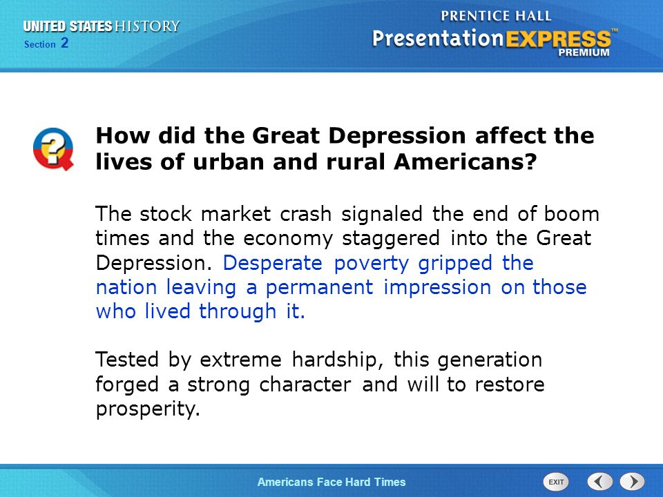 impact of the great depression on the us economy The stock market crash of october 1929 led directly to the great depression in   the depression's impact on the united states by blaming the aftermath of the   impact of the economic crisis, all major factors contributing to the depression can .