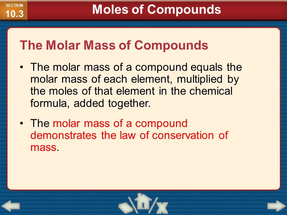 The Molar Mass of Compounds