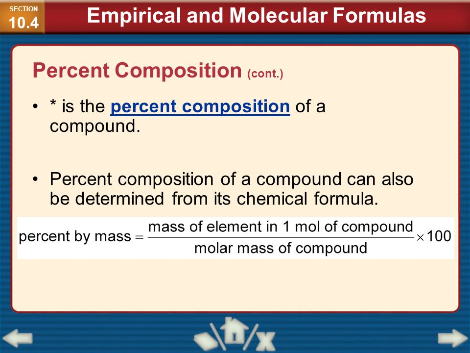 Empirical and Molecular Formulas