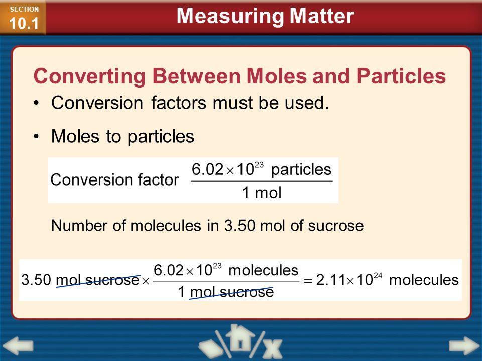 Converting Between Moles and Particles