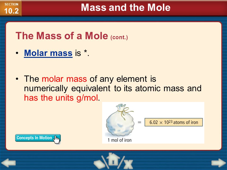 The Mass of a Mole (cont.)
