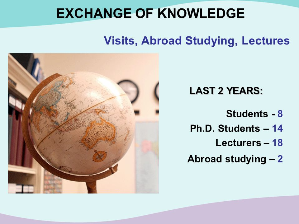 Visits, Abroad Studying, Lectures
