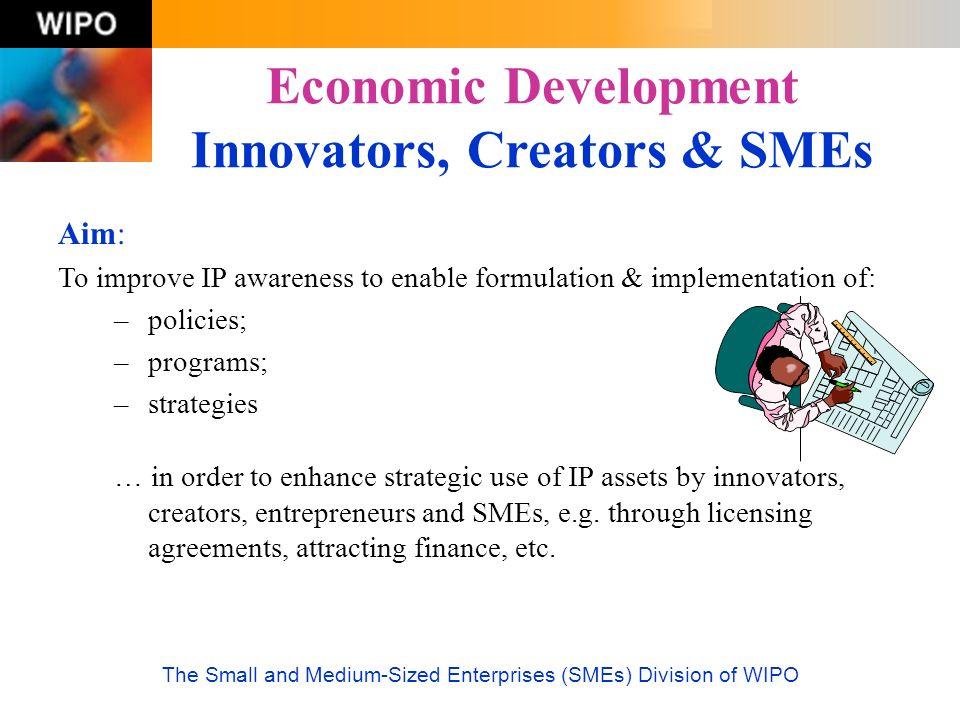 Economic Development Innovators, Creators & SMEs
