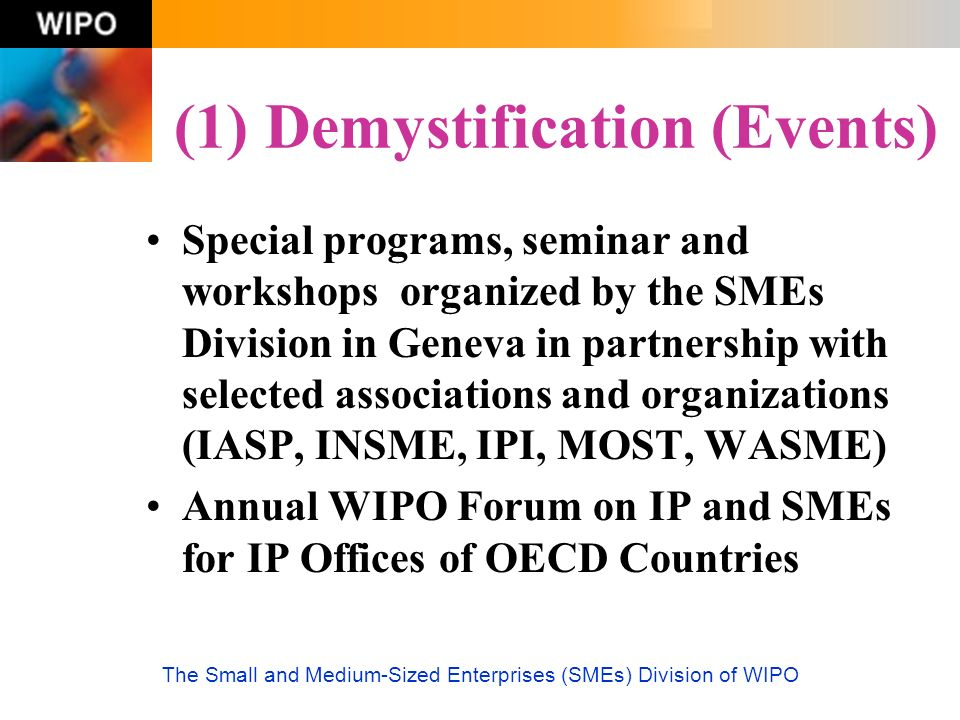 (1) Demystification (Events)