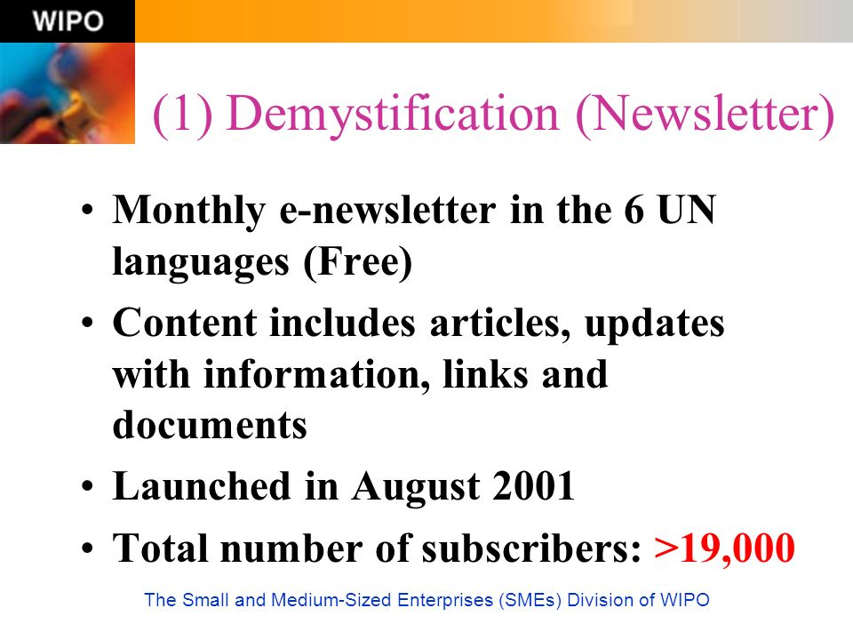 (1) Demystification (Newsletter)