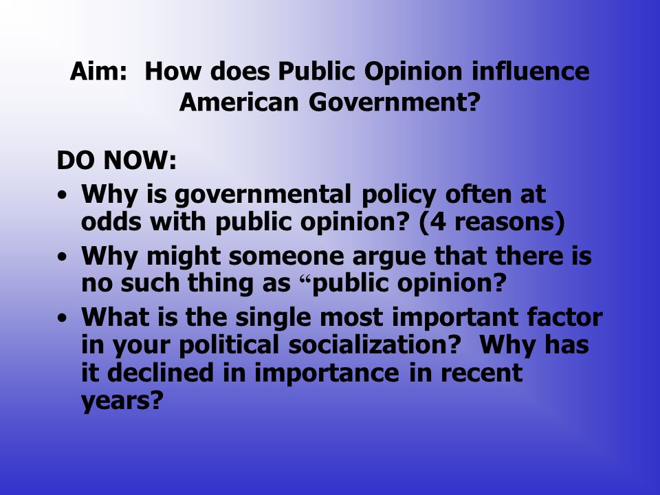 what are the major political influences in your life A wide range of public policy issues — even some not usually associated with  health — can influence the health and well-being of tennesseans  can and  currently do play an important role in the everyday life of tennesseans  with  health, the following 5 public policy areas can have a big health impact.