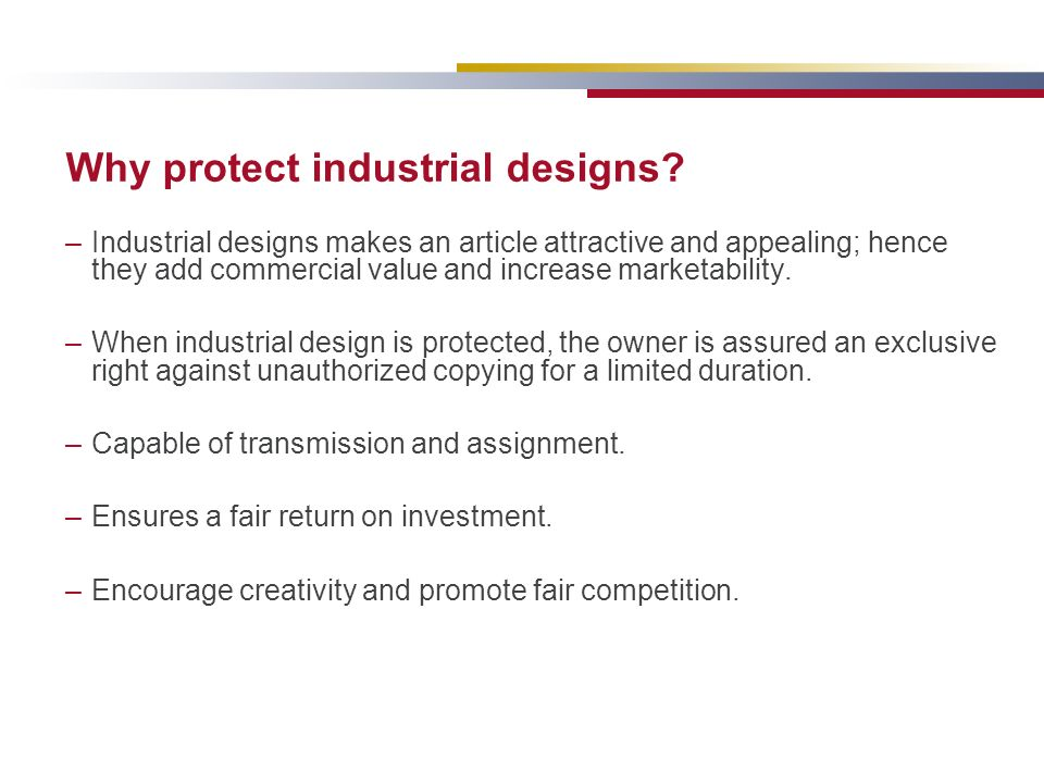 Why protect industrial designs