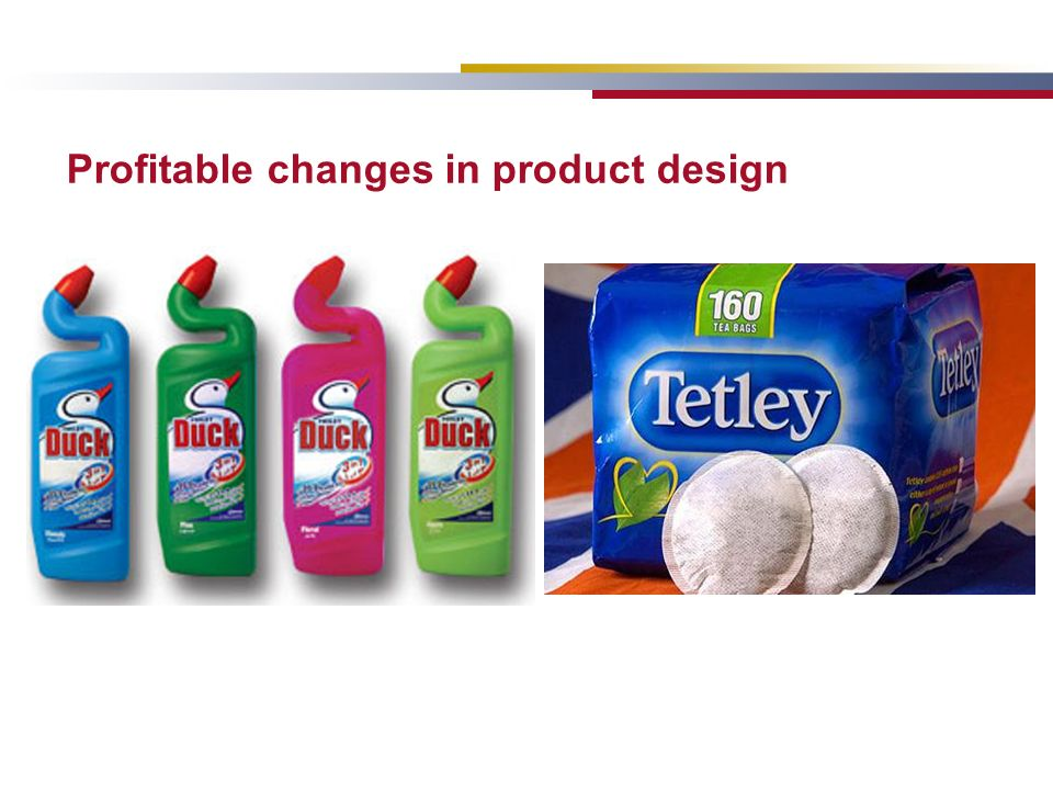 Profitable changes in product design