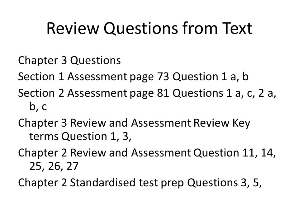 "ch 1 review question Following are answers to the ""questions for study and review"" at the end of each chapter in the textbook answers are arranged by chapter."