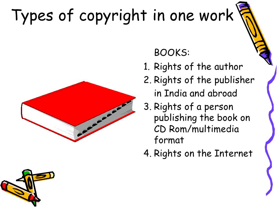 Types of copyright in one work
