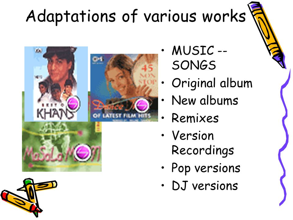 Adaptations of various works