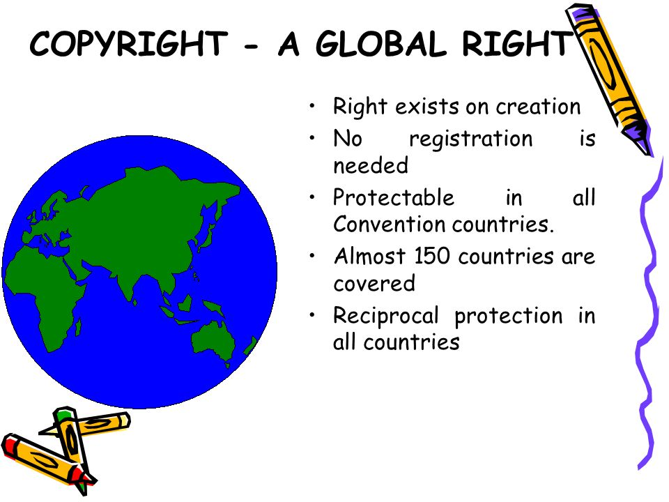 COPYRIGHT - A GLOBAL RIGHT