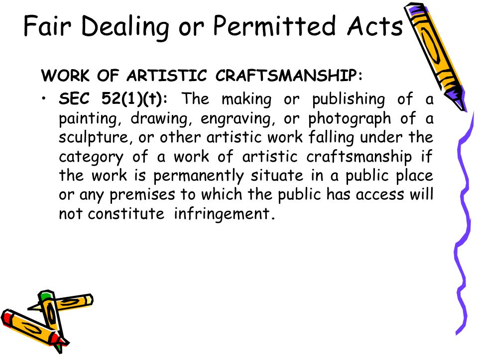 Fair Dealing or Permitted Acts