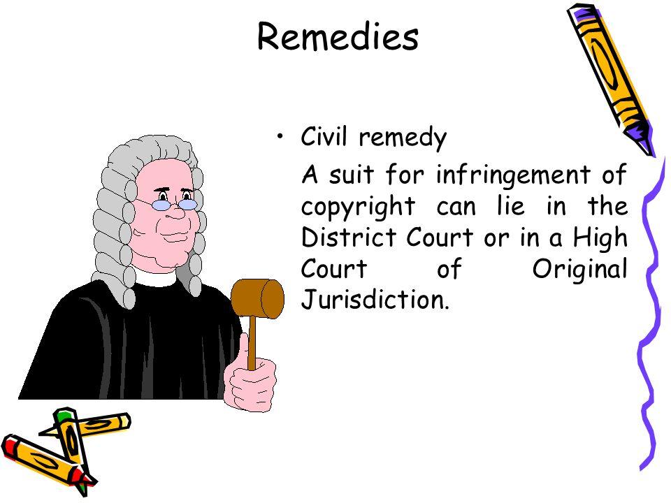 Remedies Civil remedy.